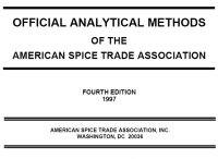 Analytical Methods Manual | ASTA: The Voice of the U S