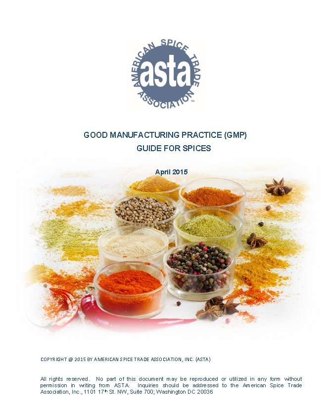 Good Manufacturing Practice (GMP) Guide for Spices | ASTA