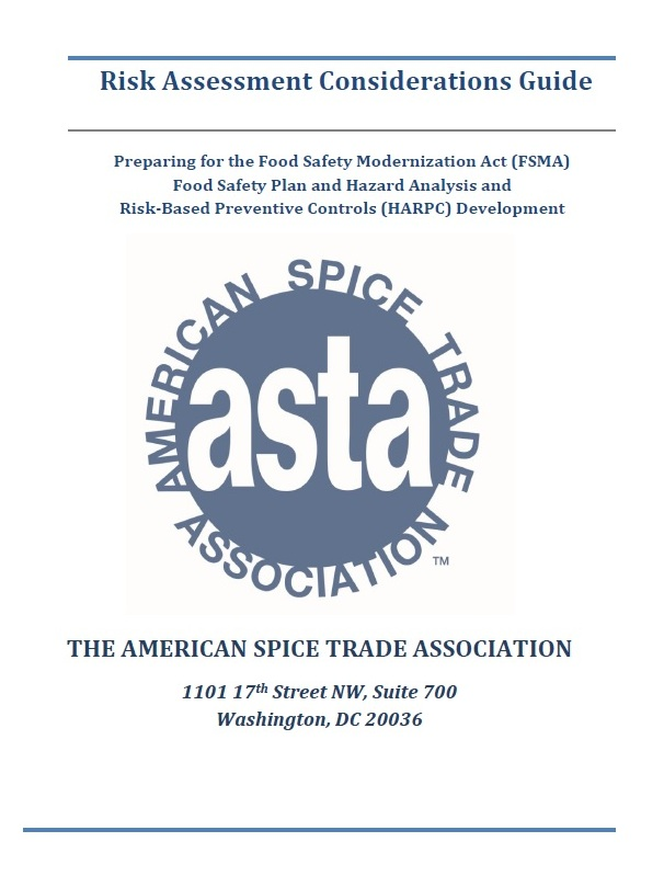 FSMA Risk Assessment Considerations Guide | ASTA: The Voice of the